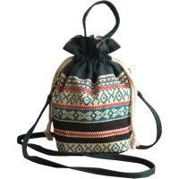 手机包女士斜挎包手提袋手腕迷你帆布水桶包布艺民族风斜跨小包包