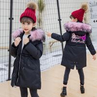 女童棉衣韩版6冬季长款7女孩8-9-10岁小学生冬装潮