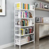 幽咸家居简约白色书架 落地书柜 置物架 现代简约儿童学生桌上简易楠竹书架