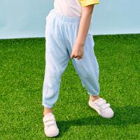 【2件3折价:49】小猪班纳童装女童长裤2020夏季新款儿童防蚊裤中大童裤子休闲裤