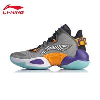 李宁篮球鞋男鞋空袭 VI2019新款减震回弹休闲男士中帮运动鞋
