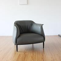 美式真皮沙发客厅现代简约休闲老虎椅北欧单人沙发椅