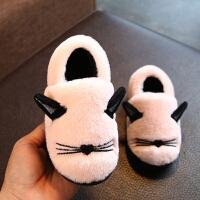 棉拖鞋包跟女童棉托鞋1-3岁宝宝小孩拖鞋男童室内棉鞋家用7-9