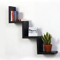 美达斯 W型时尚创意搁板 隔板置物架 墙上装饰架壁挂 沙发电视背景装饰墙壁架子