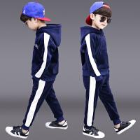 儿童男孩运动洋气帅气衣服两件套潮童装男童冬装套