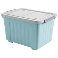 有盖收纳箱塑料大号箱子储物箱 学生宿舍衣服收纳盒整理箱