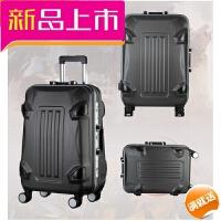 大黄蜂铝框箱包拉杆箱女 学生万向轮旅行箱行李箱登机箱 深灰色 20寸