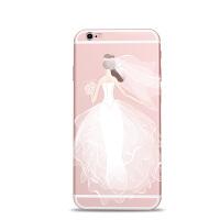 Eyestar苹果6splus手机壳女神蕾丝婚纱款创意iPhone6plus硅胶软壳