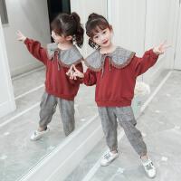 女童套装2020新款春款春秋春装运动套装网红潮流卫衣年时尚时