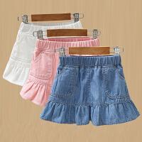 童装女童牛仔裙儿童洋气裙子小女孩夏季短裙宝宝半身裙潮