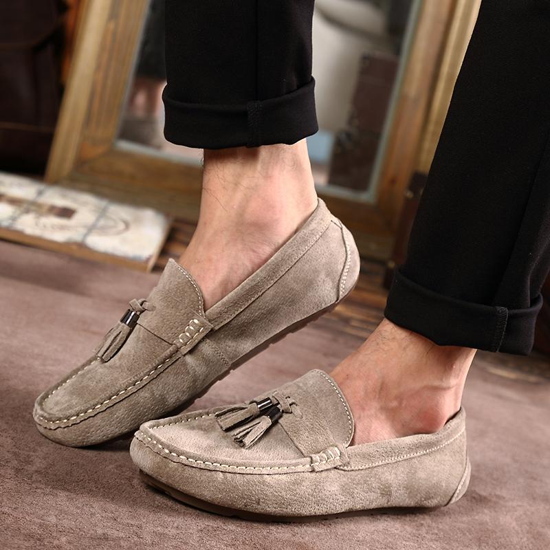 西瑞男士休闲豆豆鞋新款真皮套脚男鞋轻便软底驾车鞋9037真皮豆豆鞋-轻便软底驾车鞋