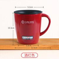 日本ASVEL带盖带勺保温杯不锈钢咖啡杯马克杯女办公室情侣水杯子