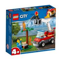 【当当自营】LEGO乐高积木城市组City系列60212 烧烤失火救援