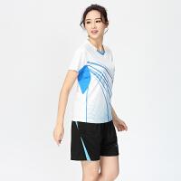 儿童羽毛球服套装男女款亲子装运动短袖情侣乒乓球服速干定制白色