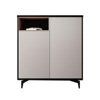 定制意式极简鞋柜旋转带镜子轻奢进门多功能大容量现代玄关储物柜 组装