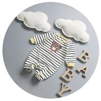 新生儿连体衣开衫纯棉春秋男女宝宝哈衣春装0-3-6个月婴儿爬爬服8