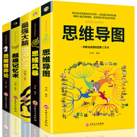 全5册 超级记忆术 思维导图 思维风暴 图解博弈论 最强大脑 头脑风暴左右脑开发思维训练书籍
