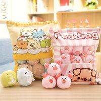 可爱ins小兔子零食网红抖音毛绒玩具猪公仔抱枕玩偶生日礼物女生