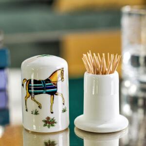 欧式家居装饰摆件 艾玛仕陶瓷牙签筒牙签盒