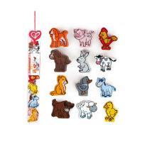 Hape立体农场动物1-6岁儿童益智早教积木玩具婴幼玩具木制玩具E0901