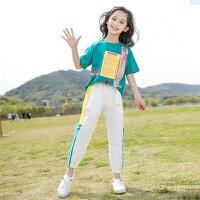 女童夏季套装儿童洋气中大童时髦女孩夏装两件套12岁