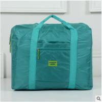 行李包女 大容量旅行袋韩版折叠收纳包手提包男 旅行包防水拉杆包 绿色 水绿色 大