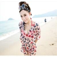 韩版时尚斯漫琪泳衣显瘦遮肚性感钢托比基尼三件套温泉游泳衣