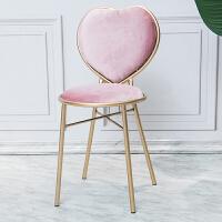 ins北欧粉色梳妆椅玻璃铁艺茶几客厅边几咖啡厅奶茶店桌椅