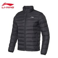 李宁超轻羽绒服男士新款羽毛球系列上衣立领冬季白鸭绒运动服