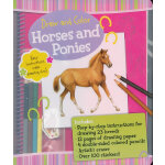 Draw and Color: Horses and Ponies 素描与色彩:马 ISBN9781607103257