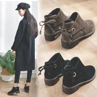 短靴女平底秋冬季女鞋子冬款秋款靴子马丁靴英伦