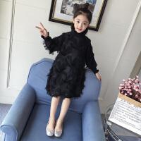 女童秋装春秋季中大童连衣裙儿童韩版公主裙洋气长袖裙子