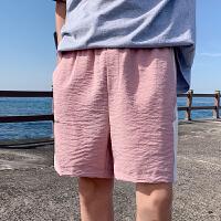 网红男士短裤2019夏季宽松休闲五分裤潮流青年运动沙滩裤