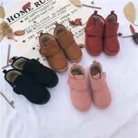 mini旦儿童雪地靴短靴女童靴子冬季新款宝宝鞋子加厚棉鞋加绒短靴