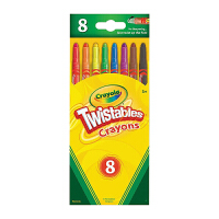 保税区发货 Crayola绘儿乐 8色可拧转蜡笔 防摔断 儿童文具 3岁以上 海外购