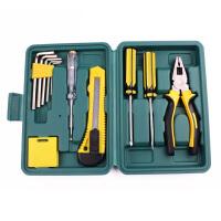 普润 便携式12件套家用工具套装多功能五金工具箱维修汽车手动工具
