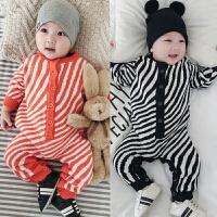 婴儿针织毛线连体衣爬服新生男女宝宝哈衣线衣0-3-6-9-12个月1岁