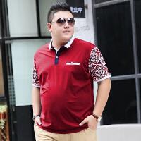 300斤特大�肥佬短袖T恤男大�a潮胖子加肥加大�棉薄款POLO衫吸汗