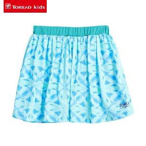 探路者童装 女童半身裙中大童印花短裙2017夏季新款儿童超短裙子