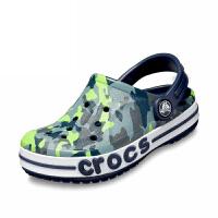 【2双3折】Crocs儿童凉鞋 卡骆驰男童鞋子迷彩卡骆班宝宝沙滩洞洞鞋|205431 贝雅图案卡洛班小克骆格