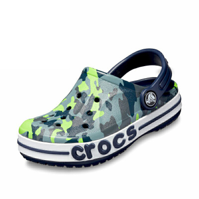 【2双3折】Crocs儿童凉鞋 卡骆驰男童鞋子迷彩卡骆班宝宝沙滩洞洞鞋 205431 贝雅图案卡洛班小克骆格 crocs夏季大促