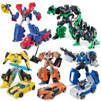 陆霸威将变形玩具金刚5领袖动画合金版擎天侠大黄蜂联盟4男孩儿童变形金刚机器人