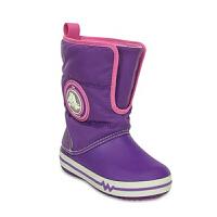 Crocs卡骆驰童鞋户外雪地靴棉靴长靴酷闪阵风靴儿童靴子 15811 卡骆驰酷闪阵风靴