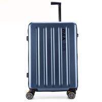 轻商务PC拉杆箱密码行李箱旅行箱万向轮登机箱20/24/28寸男女潮 蓝色 20寸