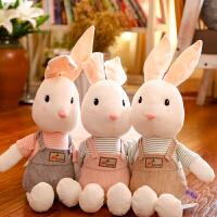 可爱萌背带裤兔子布偶公仔娃娃抱枕兔兔玩偶儿童女孩生日礼物
