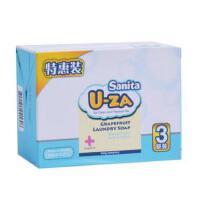 韩国U-ZA婴儿洗衣皂幼儿童洗衣皂 宝宝柚子洗衣皂150g*3块天然皂