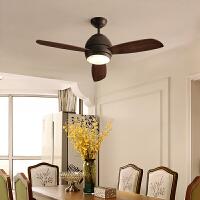北欧风扇灯简约现代卧室餐厅吊扇灯led客厅灯实木风扇灯具