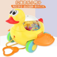 宝宝学步拖拉玩具音乐小鸭子婴儿益智拉线玩具拉绳学走路0-1-2岁 音乐拉绳小鸭子