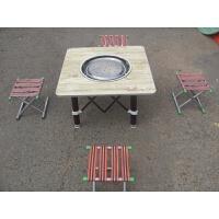 烧烤炉户外野炊加厚折叠家用商用烤肉架木炭烤锅带桌面