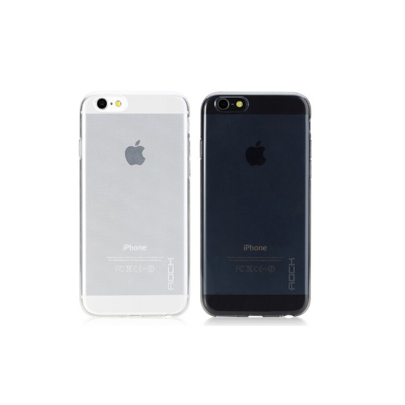 洛克 ROCK iPhone6 plus iphone 6s plus手机壳 4.7寸 5.5寸 薄苹果6+ 手机套 软套 保护套 硅胶 透明壳 0.6mm厚度,接近隐形,一体防尘塞设计